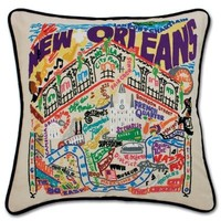 Catstudio New Orleans Embroidered Pillow
