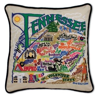Catstudio Tennessee State Embroidered Pillow