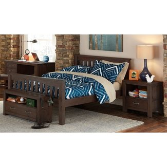 Hillsdale Furniture Highlands Harper Bed HB/FB/Slats/Rails - Full Espresso