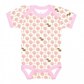 Apple Park Essential Organic Onesie – Pink Forest Fawn