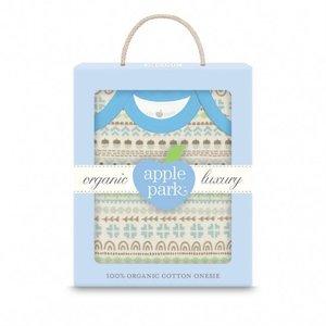 Apple Park Essential Organic Onesie in Gift Box – Fair Isle Lad