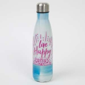 Water Bottle Live happy