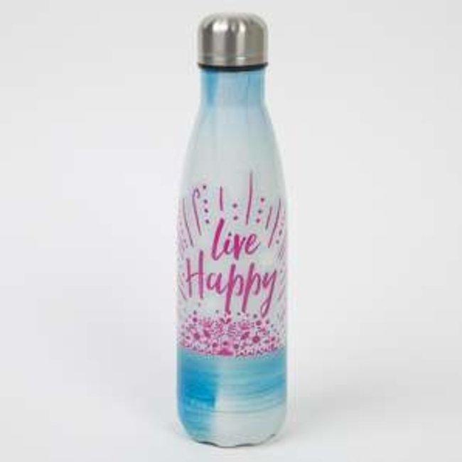 Water Bottle Live happy