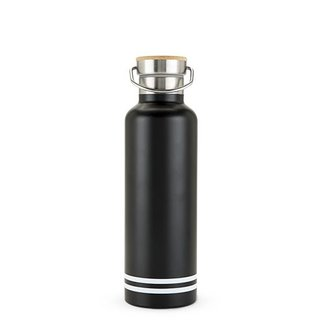 Black Matte Water Bottle - Stainless Steel 25oz