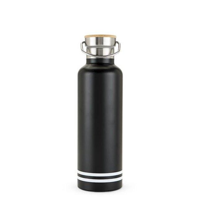 Black Matte Water Bottle - Stainless Steel 25oz