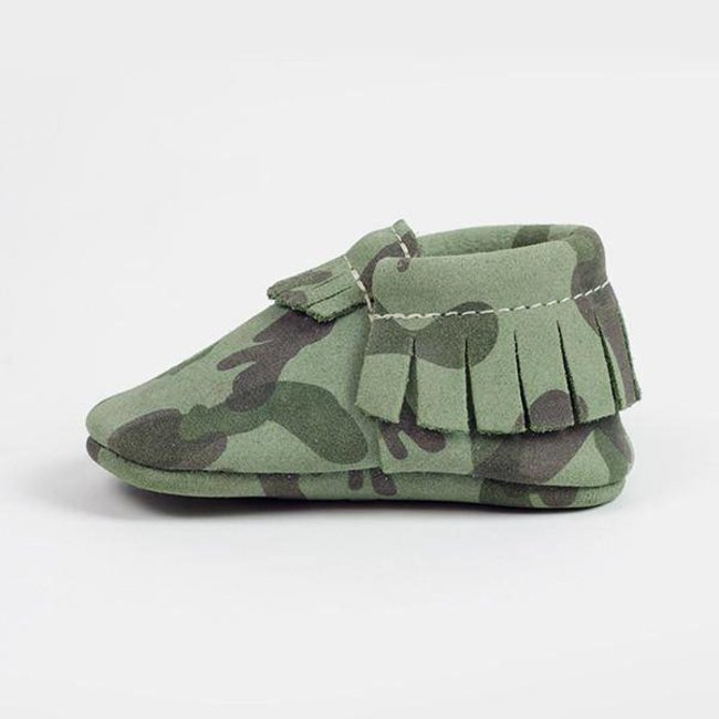 Freshly Picked Moccasins - Green Camo Size 2