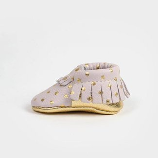 Freshly Picked Moccasins - Heirloom in Blush & Gold NB