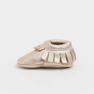 Freshly Picked Moccasins - Newborn Platinum