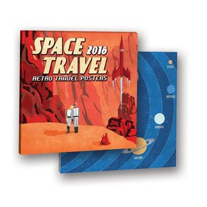 Studio Oh! 2018 Calendar - Space Travel Retro Travel Calendar