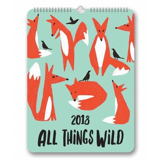 Studio Oh! 2018 Calendar - All Things Wild Poster Calendar
