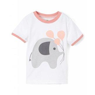 doodle pants Pink Elephant Tee 2T