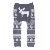 doodle pants Grey Fair Isle Moose Leggings 12-18