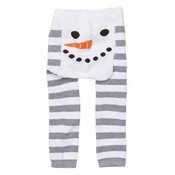 doodle pants White Snowman Stripe Leggings 12-18mo