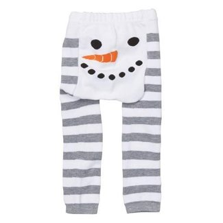doodle pants White Snowman Stripe Leggings 18-24mo