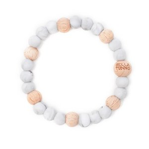 Bella Tunno Teething Bracelet - Houston Marbled Gray Wood