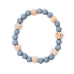 Bella Tunno Teething Bracelet - Philadelphia Gray Wood