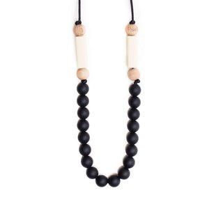 Bella Tunno Teething Necklace - Charleston Black