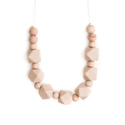 Bella Tunno Teething Necklace - Boston Oatmeal