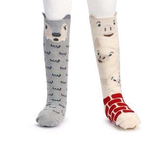 Demdaco Three Little Pigs Knee Socks