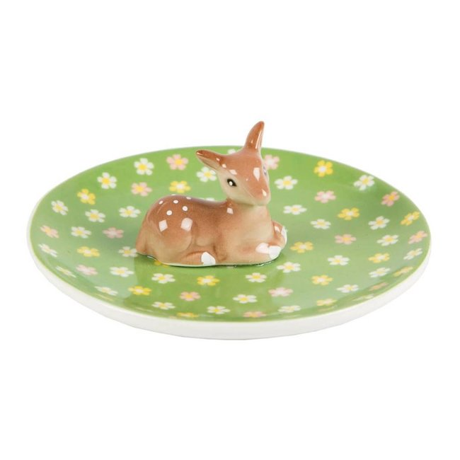 Sass & Belle Floral Fawn Trinket Dish