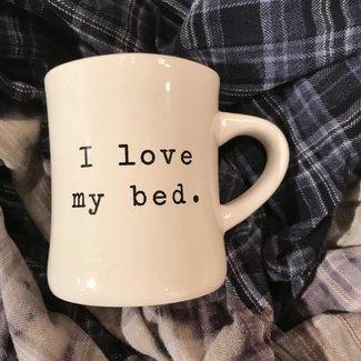 I Love My Bed Mug
