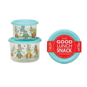 Ore Originals Good Lunch Containers S/2 Small Retro Robot