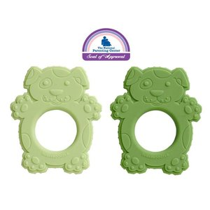 Ore Originals Scruffy Dog Silicone Teether Set of 2