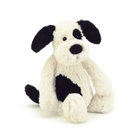 Jelly Cat Bashful Puppy Black & Cream Small