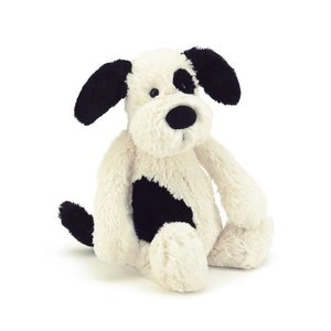 Jelly Cat Bashful Puppy Black & Cream Small