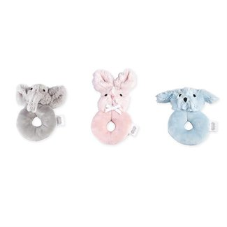 Mud Pie Plush Ring Rattles