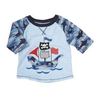 Mud Pie Camo Pirate Shark T-Shirt