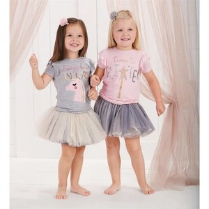 Mud Pie Bamboo Glitter Unicorn Tee