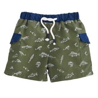 Mud Pie Fishing Swim Trunks