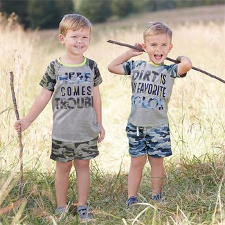 Mud Pie Camo Pull-On Shorts