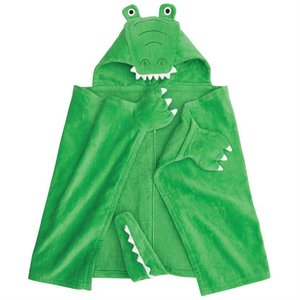 Mud Pie Gator Hooded Towel