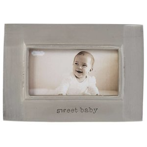 Mud Pie Sweet Baby Pewter Frame
