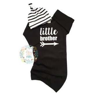 Gigi and Max Little Brother Gown w/Hat