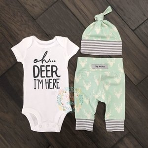 Gigi and Max Newborn Outfit Mint Deer