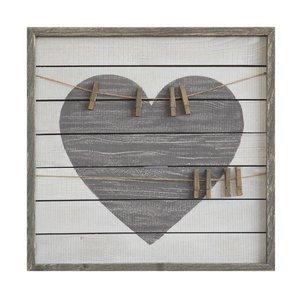 Heart Framed Wall Decor