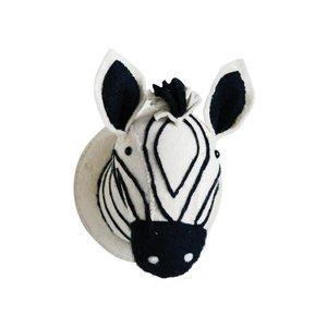 Wool Felt Zebra Head