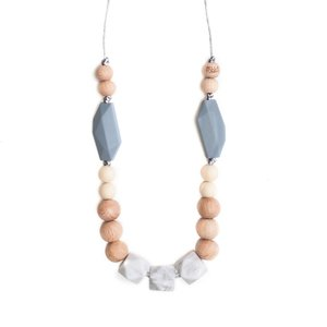 Bella Tunno Teething Necklace - Boston Gray