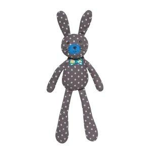 Apple Park Spring Bunny Gray Polka Dot