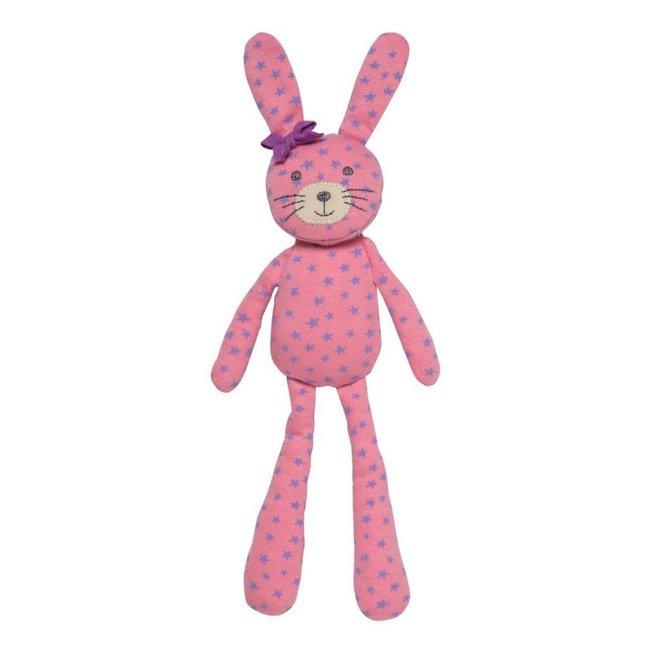 Apple Park Spring Bunny Pink Star Print