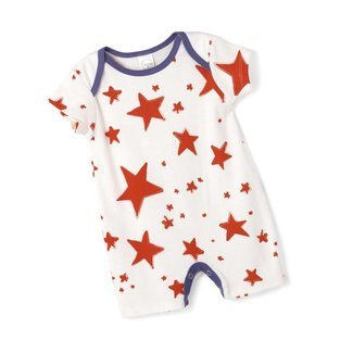 Tesa Babe Red Starlight Shortie Romper