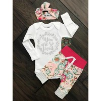 Gigi and Max Newborn Outfit So Loved Light Pink