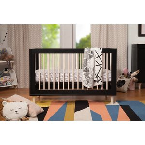 Million Dollar Baby Lolly 3-in-1 Crib Black/Washed Natural