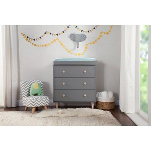 Million Dollar Baby Lolly 3-Drawer Changer Dresser Grey/Washed Natural