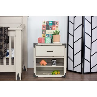 Million Dollar Baby Providence Night Stand - Distressed White