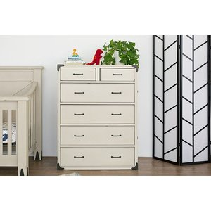 Million Dollar Baby Providence Tall Dresser - Distressed White