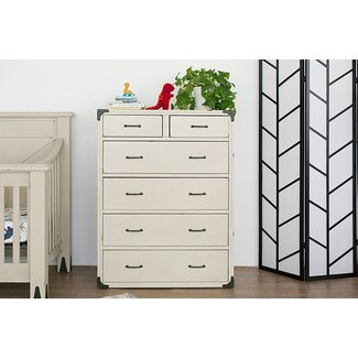 Million Dollar Baby Providence Tall Dresser - Distressed White